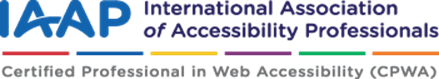 IAAPの認定マーク (CPWA)Certified Professional in Web Accessibility