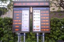 ユニバーサルスタジオの待ち時間が人目でわかる掲示板