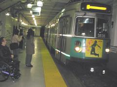 写真:ボストンの地下鉄