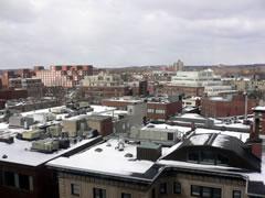 写真:ハーバード大学の周囲の街並み