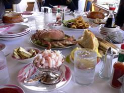 画像:フィッシャーマンズワーフで食べたシーフード