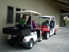 画像:誰でも使っていいというゴルフカート